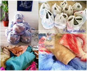 FOR SALE: Faux Fur Off Cut Bags available! by CyanFox3