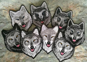 Alpha wolves small ~NEW BATCH~ embroidered patches