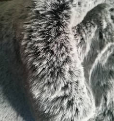 New silver tipped faux fur
