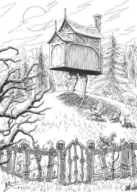 Baba Yaga's hut by sorrowking