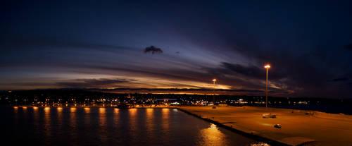 Kyllini port sunset