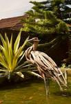 Driftwood Stork Sculpture