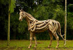 Driftwood horse stallion sculpture by ghoff24