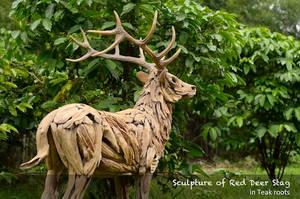 Red Deer Sculpture by ghoff24