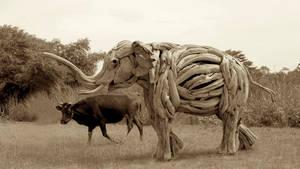 'Morning Walk'   A life size Elephant Sculpture