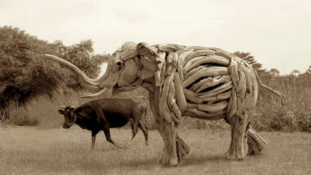 'Morning Walk'   A life size Elephant Sculpture