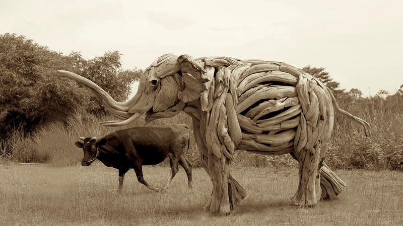 'Morning Walk'   A life size Elephant Sculpture by ghoff24