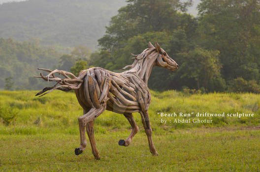 Beach Run Teak Roots Sculpture