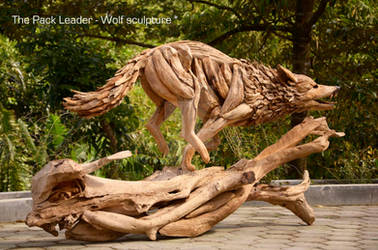 The Pack Leader - a Wolf sculpture