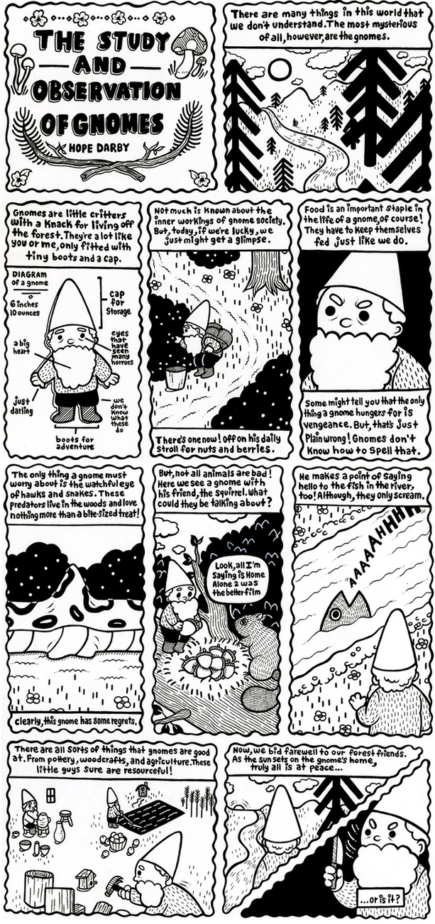 Study and Observation of Gnomes by aychh