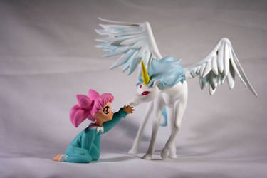 Pegasus and Chibi Usa Painted Garage Kit by PaulineFrench