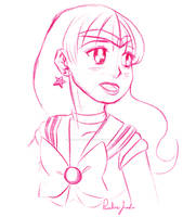 Sailor Mars Sketch