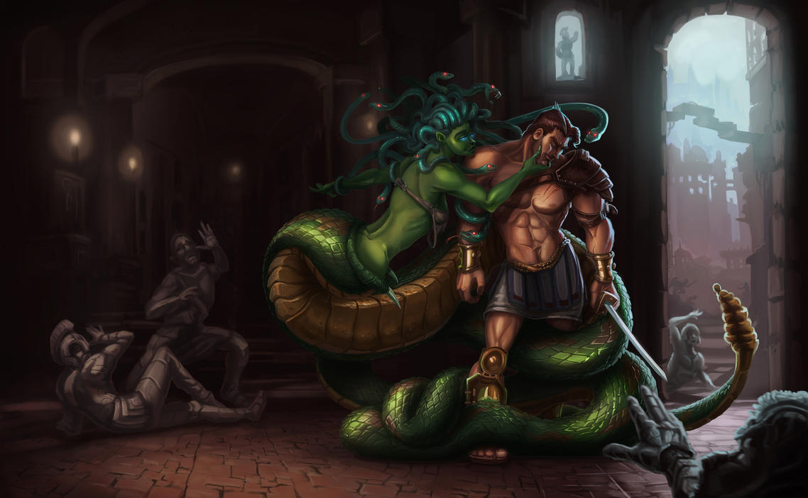 Medusa and Perseus by LucasZebroski