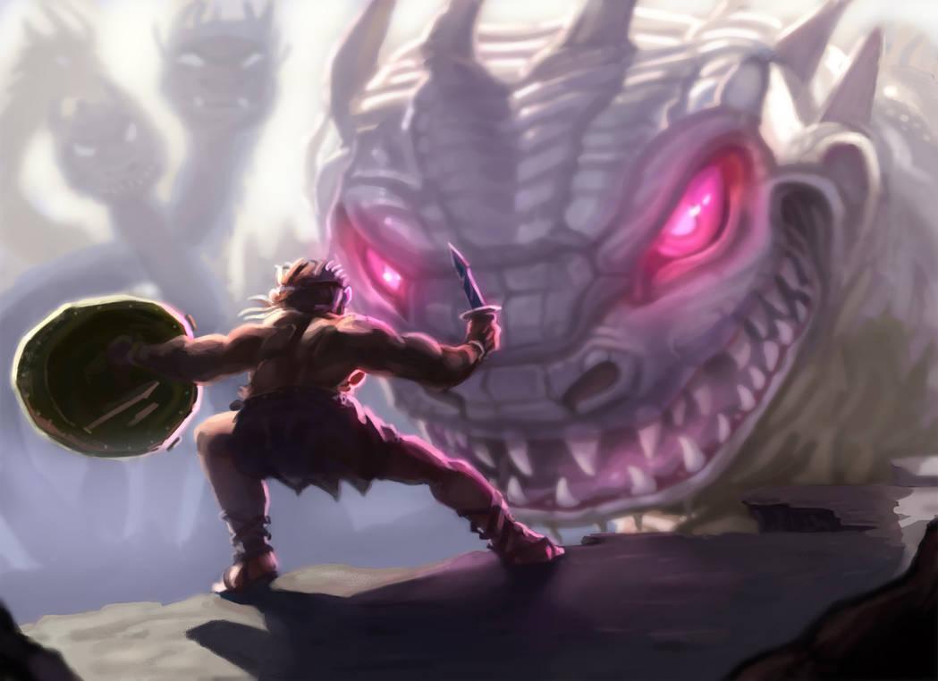 Hydra Fight by LucasZebroski