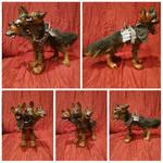 Mutant Cerberus Armored Dogmeat by MiiruFae