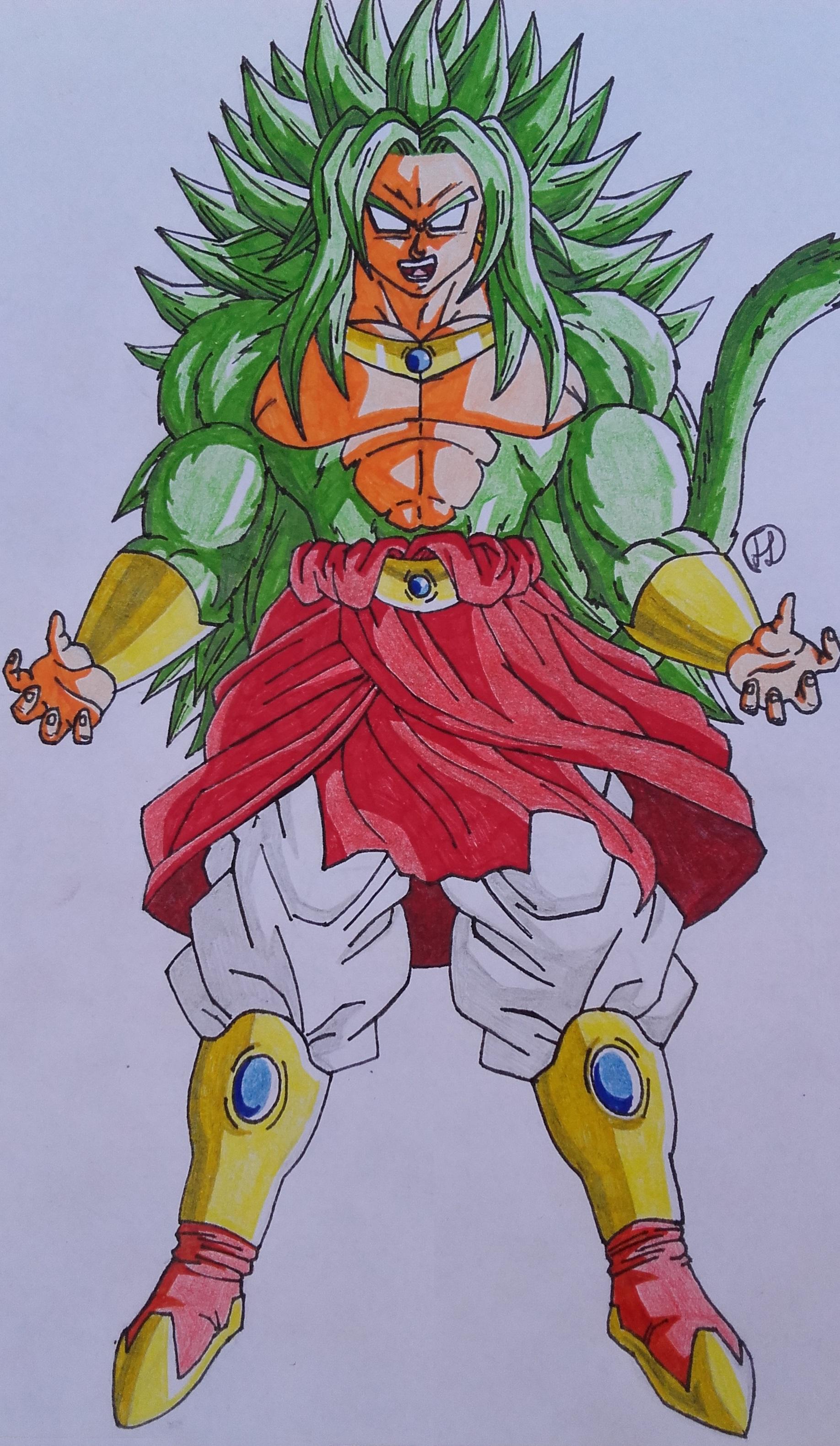 Friend Request: Broly Super Saiyan 4 God form by Darkhameleon on ...