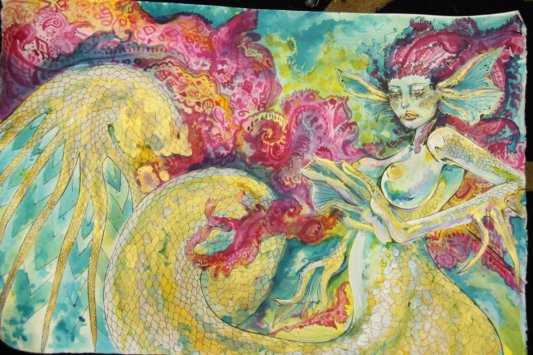 mermaid WIP by malibukki