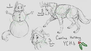 Canine Holiday YCH's (1 slot each, auction) OPEN