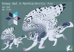 Adopt - Arctic/marble Fox X Snowy Owl - PENDING