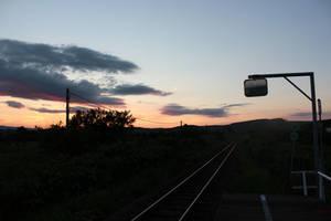 Railroad at Night
