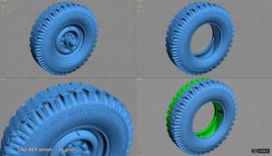 Wheel UAZ-469 Version for 3D printing