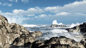 Rocky Shore by mainbearing