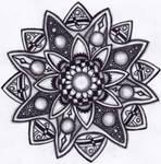Tangle #4:  Flower