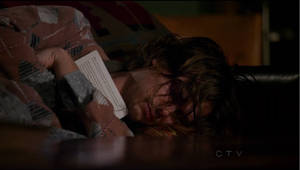 Reid clutching the book Maeve gave him by Zena-Xina
