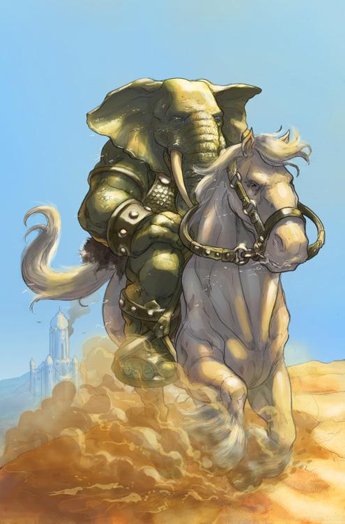 Elephantmen 32 by AxelMedellin