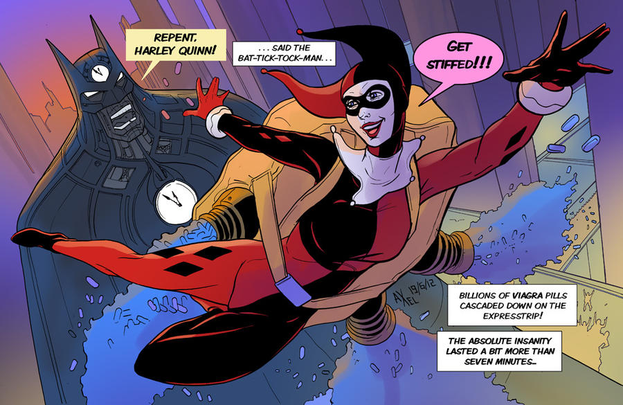 TLIID 95Repent HarleyQuinn said the BatTickTockMan by AxelMedellin