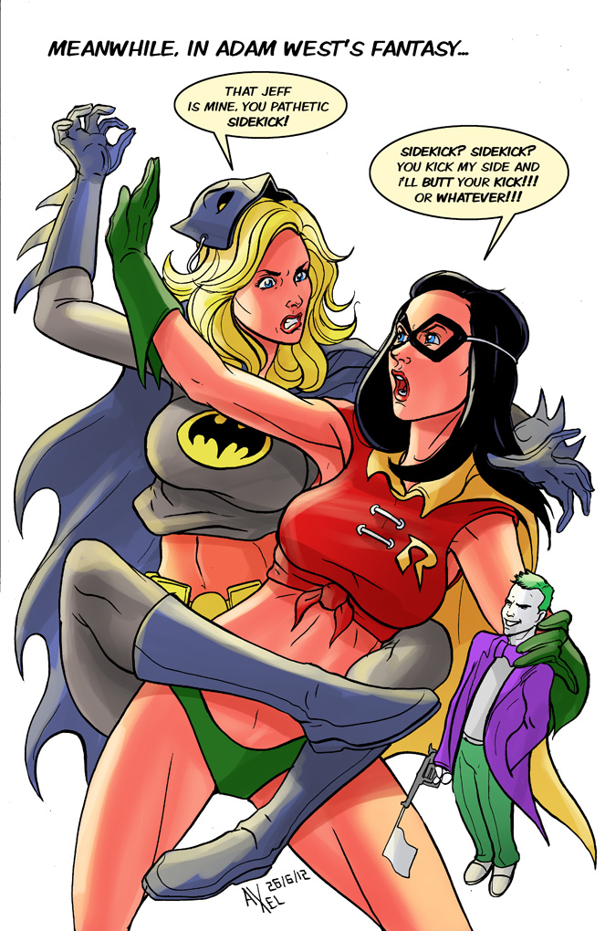 TLIID 96: Britta and Annie as Batman and Robin by AxelMedellin