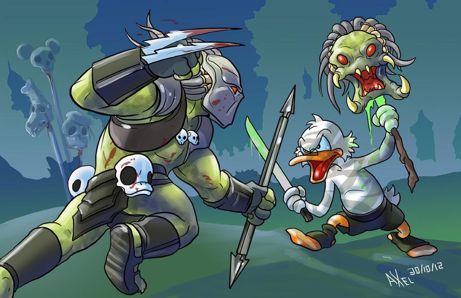 TLIID 113. Scrooge McDuck vs Predator by AxelMedellin