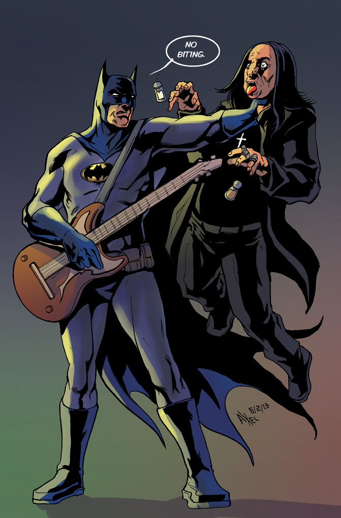 TLIID 125. Batman and Ozzie Osbourne by AxelMedellin