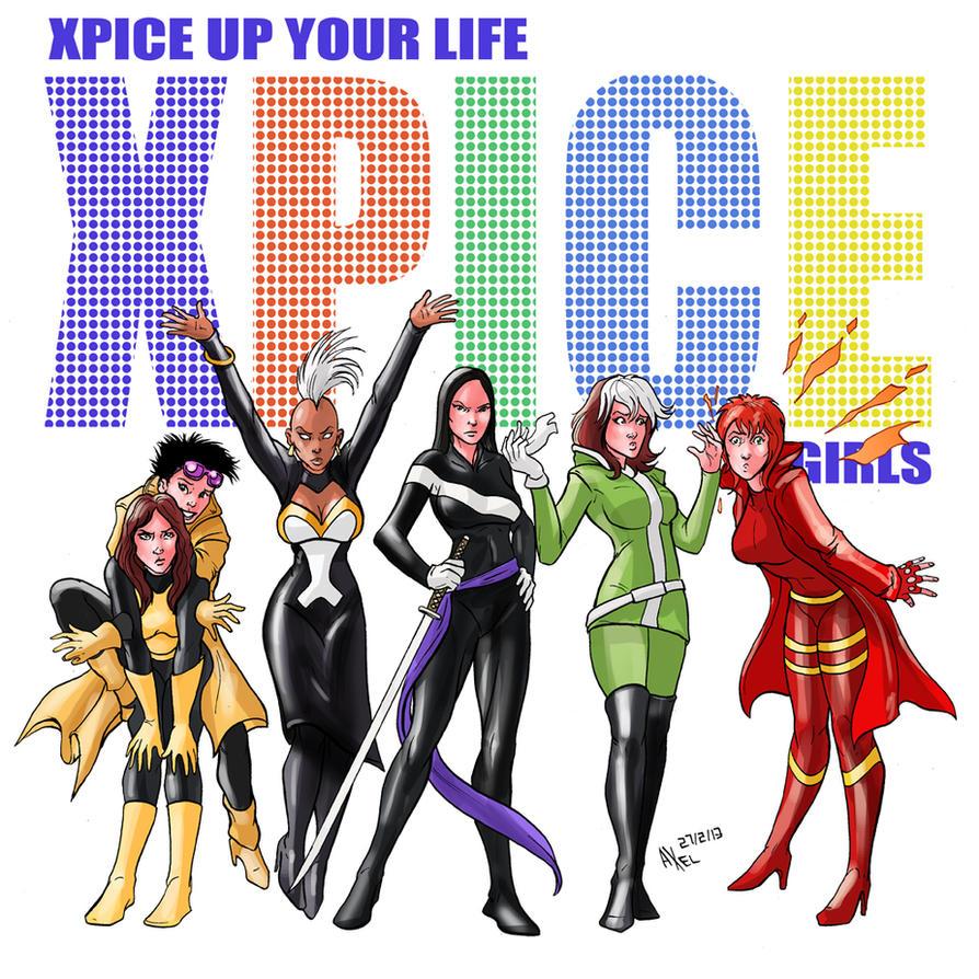 TLIID 128. X-Women as Spice Girls by AxelMedellin