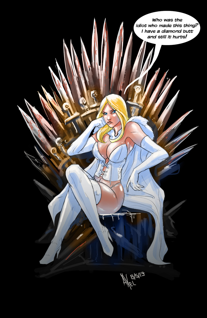 TLIID 138. Emma Frost in the Throne of Swords by AxelMedellin