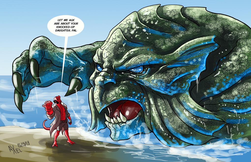 TLIID 139. Hellboy vs the Kraken by AxelMedellin