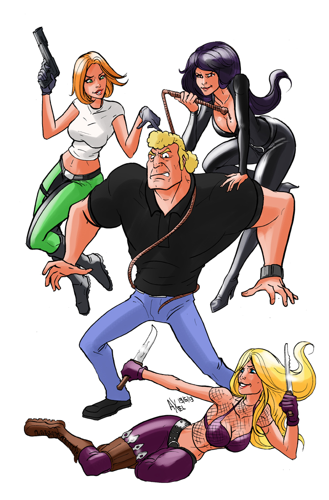 TLIID 144. Brock Samson and the Danger Girls by AxelMedellin