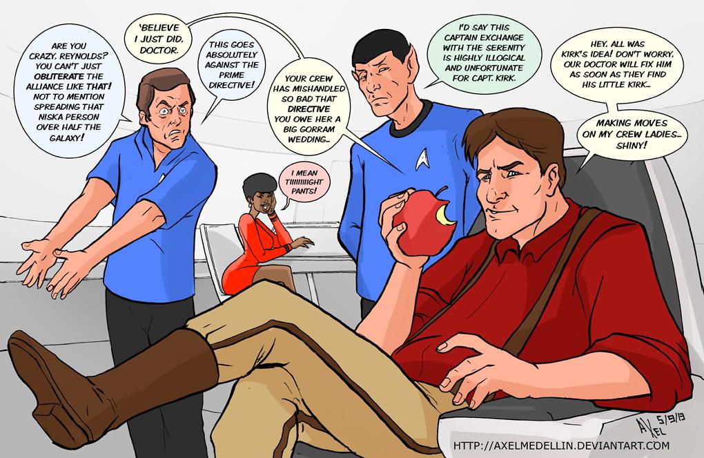 TLIID 155. Captain Reynolds running the Enterprise by AxelMedellin