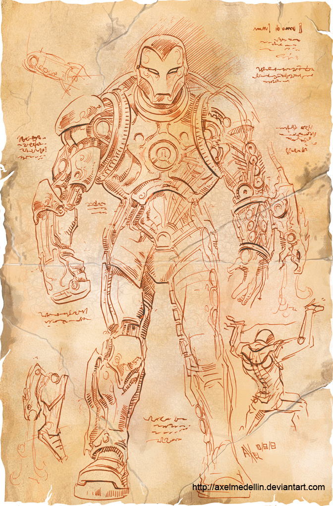 TLIID 156. Da Vinci's Iron Man, part 3 by AxelMedellin