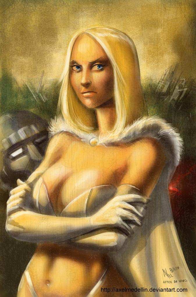 TLIID 172. Emma Frost as Mona Lisa by AxelMedellin