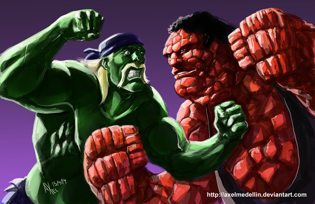TLIID 186. Hulk Hogan vs Andre the Thing by AxelMedellin