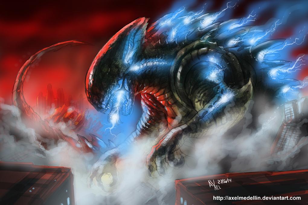 TLIID 192. Godzilla Xenomorph by AxelMedellin