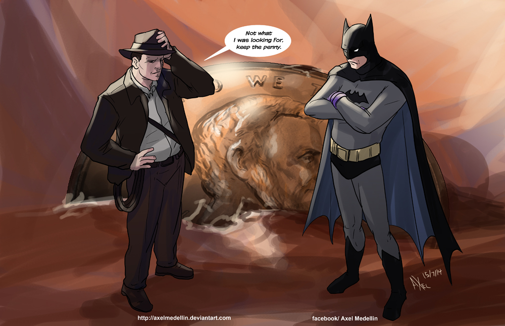 TLIID 199. Batman and Indiana Jones by AxelMedellin