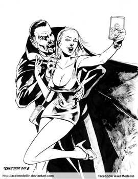 #INKtober 5. Dracula.