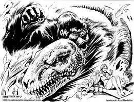 #INKtober 7: Kong by AxelMedellin
