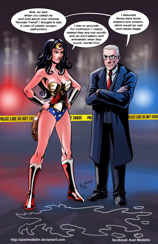 TLIID 212. Wonder Woman meets John Munch by AxelMedellin