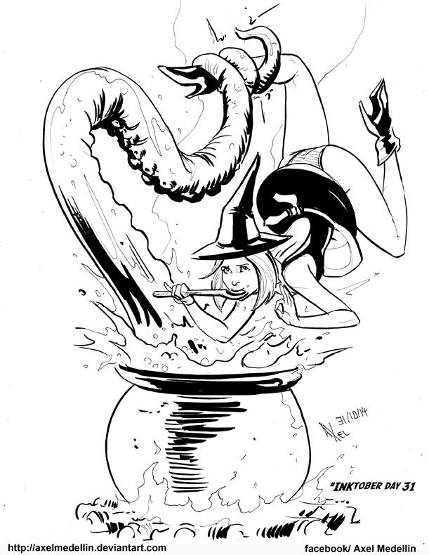 #INKtober 31. Soup. by AxelMedellin
