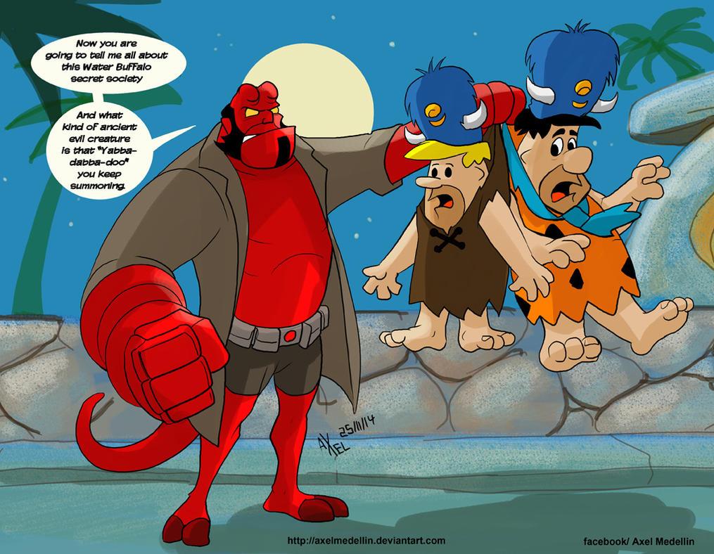 TLIID special: Hellboy in Bedrock by AxelMedellin