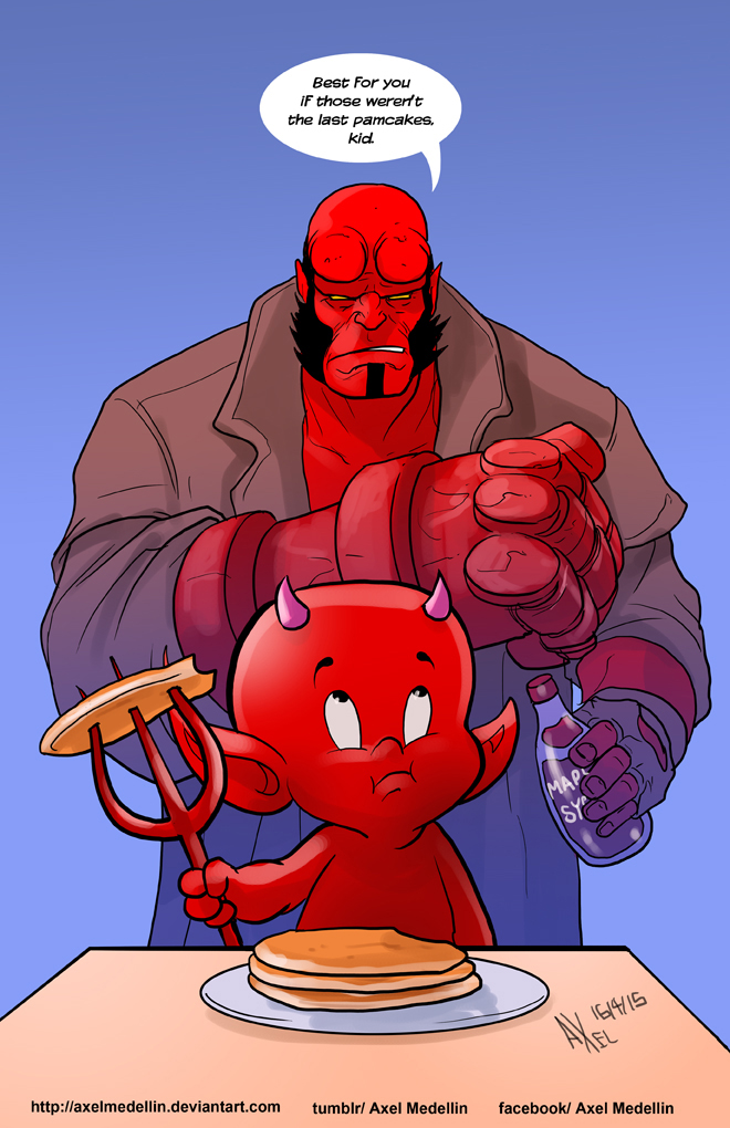 TLIID 236. Hellboy VS Hot Stuff by AxelMedellin