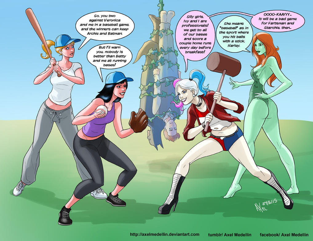 TLIID 246. Betty and Veronica VS Harley and Ivy by AxelMedellin